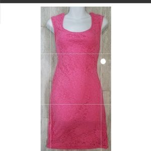 Beautiful Pink lace dress new no tag large above k